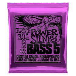 Ernie Ball BASS POWER SLINK 5 STRING 50-135