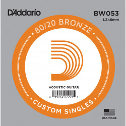 D'Addario BW053 Bronze Wound Acoustic Guitar Single String, .053