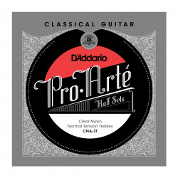 D'Addario CNA-3T Pro-Arte Clear Nylon Classical Guitar Half Set, Alto Tension