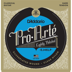 D'Addario EJ46LP Pro-Arte Composite Classical Guitar Strings, Hard Tension