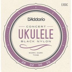 D'Addario EJ53C Pro-Arté Rectified Ukulele Strings, Hawaiian-Concert