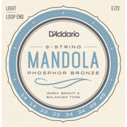 D'Addario EJ72 Phosphor Bronze Mandola Strings, Light, 14-49