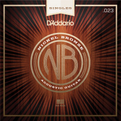 D'Addario NB023 Nickel Bronze Wound Acoustic Guitar Single String, .023