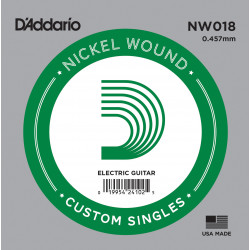 D'Addario NW018 Nickel Wound Electric Guitar Single String, .018