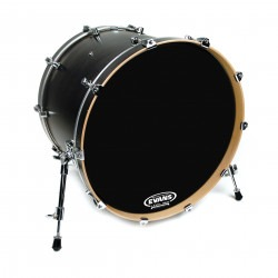 Evans Resonant Black Bass Drum Head, 22 Inch
