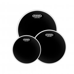 Evans Black Chrome Tompack, Fusion (10 inch, 12 inch, 14 inch)