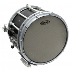 Evans Hybrid Grey Marching Snare Drum Head, 13 Inch
