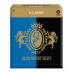 Rico Grand Concert Select Eb Clarinet Reeds, Strength 4.0, 10-pack