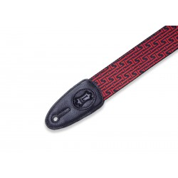 Levy's Signature L Guitar Strap black and red