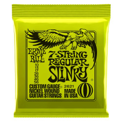 REGULAR SLINKY 7-STRING NICKEL WOUND ELECTRIC GUITAR STRINGS - 10-56 GAUGE